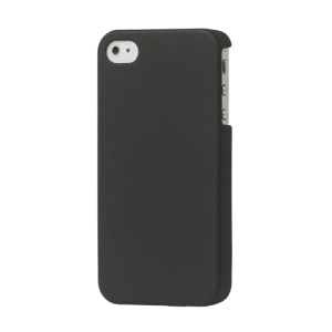 Rubberized Hard Case Cover for iPhone 4 4S - Black