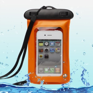 Premium Waterproof Case Bag + Strap + Headphone for iPhone 4 4S For Samsung GT-I9300 Galaxy S 3 / III  WP-510;White