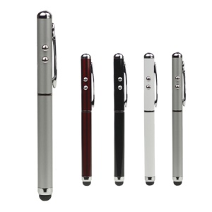 Capacitive Stylus Touch Pen + LED Flashlight + Laser Pointer for The New iPad / For iPhone 5 / 4S / 4 / For iPod Touch For Samsung S 4 IV i9500 etc;Black