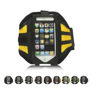 Ventilated Sports Workout Gym Armband Case Cover for iPhone 5;Black
