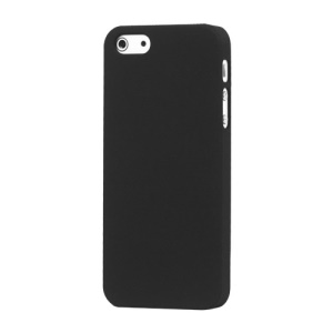Rubberized Matte Hard Back Case para iPhone SE 5s 5 - negro