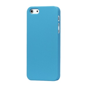 Rubberized Matte Hard Back Case for iPhone SE 5s 5 - Light Blue