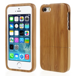 Natural Real Wood Bamboo Wooden Hard Cover Case for iPhone SE 5s 5