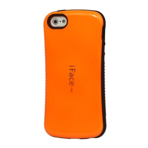 IFACE MALL First Class Shock-absorbing Urethane Premium Case for iPhone SE 5s 5 - Orange