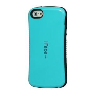 IFACE MALL First Class Shock-absorbing Urethane Premium Case for iPhone SE 5s 5 - Cyan