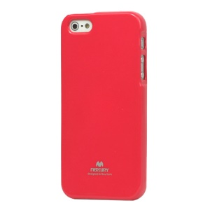 Mercury GOOSPERY Flash Powder for iPhone SE 5s 5 TPU Case Cover - Red