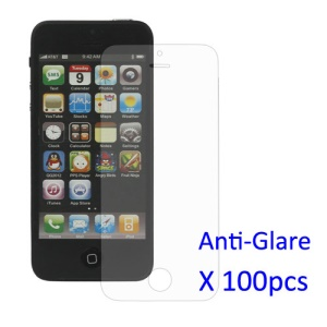 100PCS Anti-glare LCD Screen Protector for iPhone 5