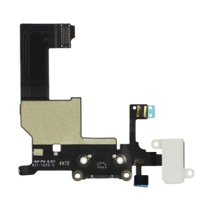 Dock Connector Charging Port and Headphone Jack Flex Cable for iPhone 5 - White