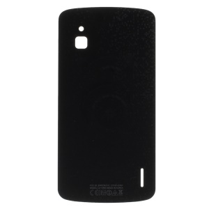 Black OEM Back Glass Battery Housing Plate for LG Google Nexus 4 E960