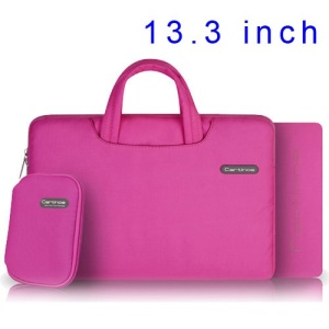 Pink Cartinoe Ambilight Series Zipper Fabric Notebook Handbag Case for MacBook Air Pro 13.3 inch, Size: 34 x 24cm