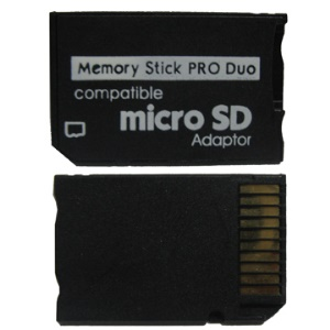 Micro SD TF to MS Memory Stick Pro Duo Card Adapter Reader