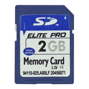 New 2GB Secure Digital (SD) Flash Memory Card;2GB