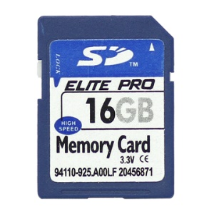 New 16GB Secure Digital High-Capacity (SDHC) Flash Memory Card;16GB