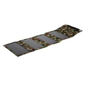 Camouflage 8W Outdoor Folding Solar Power Panel for iPhone iPad Smartphone Tablet