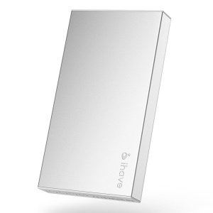 Silver IHAVE BOSS 10000mAh Dual Output Portable Power Bank for iPad iPhone iPod Phones Tablets