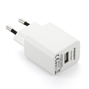Pisen I Charger 2A Power Adapter for iPhone iPad Samsung HTC - EU Plug