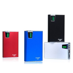 Cager B030 10000mAh Smart Portable Power Bank w/ Card Reader Function for iPhone iPad Samsung HTC;Red