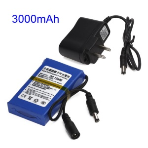 12V 3000mAh Super Polymer Rechargeable Lithium-ion Battery for CCTV Camera LED Strip