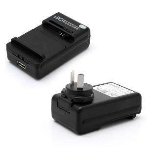 Business Universal Battery Charger w/ USB Port for All Cell Phone - AU Plug