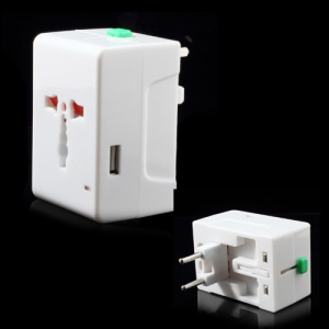 International All In One USB Travel AC Power Charger Adapter AU/UK/EU/US Plug