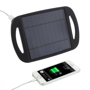 Black Universal 2.5W 500mA Sun Power Panel Solar Charger Pad w/ Stand for iPhone iPad Samsung HTC MP3