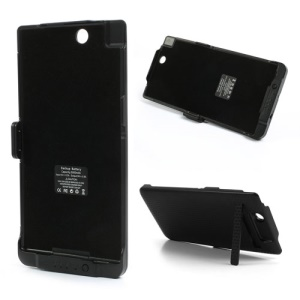 Black 5000mAh External Battery Power Bank Case for Sony Xperia Z Ultra C6806 C6802 XL39h