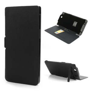 Black 5000mAh Leather Flip Cover Outer Power Bank for Sony Xperia Z Ultra C6806 C6802 XL39h