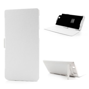 White 5000mAh Leather Flip Cover Outer Power Bank for Sony Xperia Z Ultra C6806 C6802 XL39h