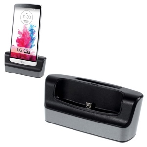 Portable 1.5A Cradle Holder Charger Dock w/ Battery Slot for LG G3 D850 + Micro USB Cable