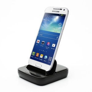 Multi-function Station Dock Charger for Samsung S4 mini I9190 / I9100 Galaxy S 2 / II - Black