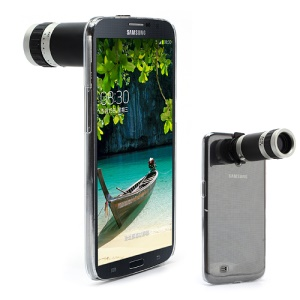 8X Zoom Mobile Phone Telescope Camera Lens w/ Crystal Case for Samsung Galaxy Mega 6.3 I9200