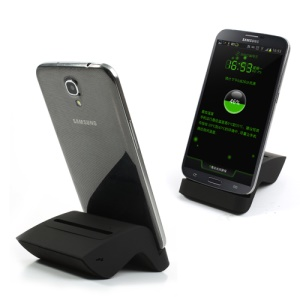 Black Dual Charging Dock Station for Samsung Galaxy Mega 6.3 I9200, w/ MicroUSB Cable