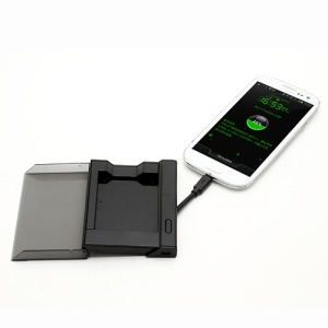 Black External Battery Charger Cradle with Built-in Cable for Samsung Galaxy S 3 III I9300