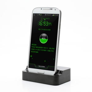 Black MicroUSB Desktop Dock Cradle Charger for Samsung Galaxy S4 i9500 i9502 i9505