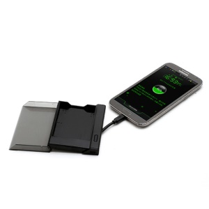 Black Portable Battery Charger Cradle with Built-in Cable for Samsung Galaxy Note II / 2 N7100