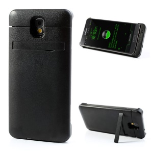 Black 4200mAh External Battery Case for Samsung Galaxy Note 3 N9000 w/ Stand