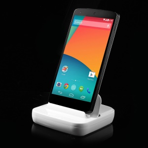 For LG Google Nexus 5 E980 D820 Data Sync Docking Stand Charger - White