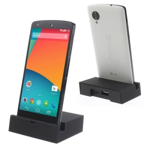 Square-shaped Charging Dock Station for LG Google Nexus 5 D820 E980 - Black