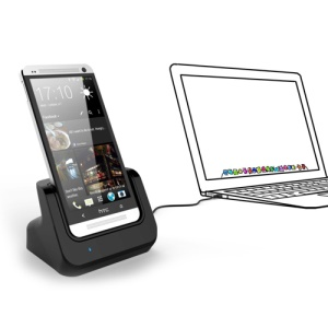 Sync Cradle Dock Charger w/ Detachable Case Plate for HTC One M7