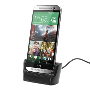 Black Data Sync Charging Dock Cradle Stand for HTC One M8