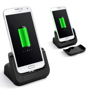 USB Sync Battery Charger Dock Station Cradle for Samsung Galaxy S5 G900 - Black