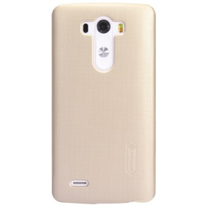 Nillkin for LG G3 Super Frosted Shield Hard Back Cover w/ Screen Protector - Champagne Gold
