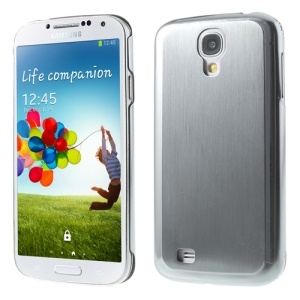 Silver Durable Brushed & Electroplated Metal Case Cover for Samsung Galaxy S4 I9505