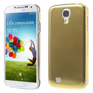 Gold Durable Brushed & Electroplated Metal Hard Cover for Samsung Galaxy S IV I9500