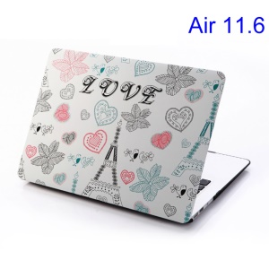 Love Eiffel Tower & Leaves Rubberized PC Case for MacBook Air 11.6 inch