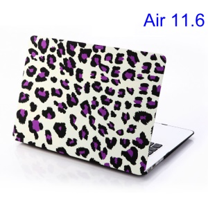Purple Leopard White Background for MacBook Air 11.6 inch Protective Hard Cover