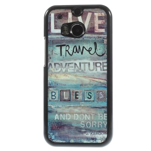 Aluminum Skin PC Shell Phone Protector for HTC One M8 - Jack Kerouac Quote
