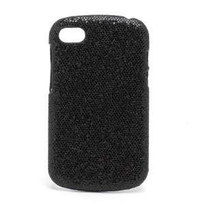 Glittery Sequins Hard Protective Case for BlackBerry Q10 - Black