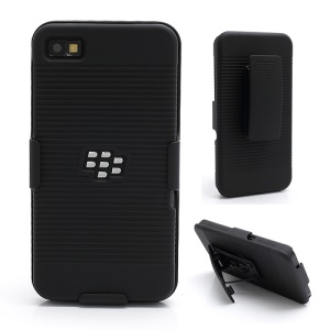 Multifunctional For BlackBerry Z10 Slide Plastic Case Cover w/ Swivel Belt Clip Stand