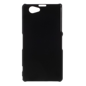 Black Rubberized Hard Skin Case for Sony Xperia Z1 Mini Compact D5503
